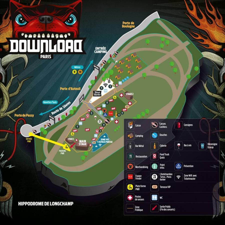 Download Festival Paris 2016 - Map | Concerts-Metal
