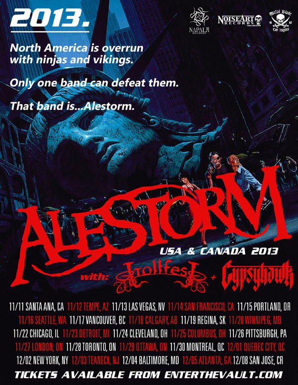 Alestorm USA & CA tour 2013