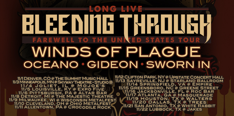 Bleeding Through - US Tour