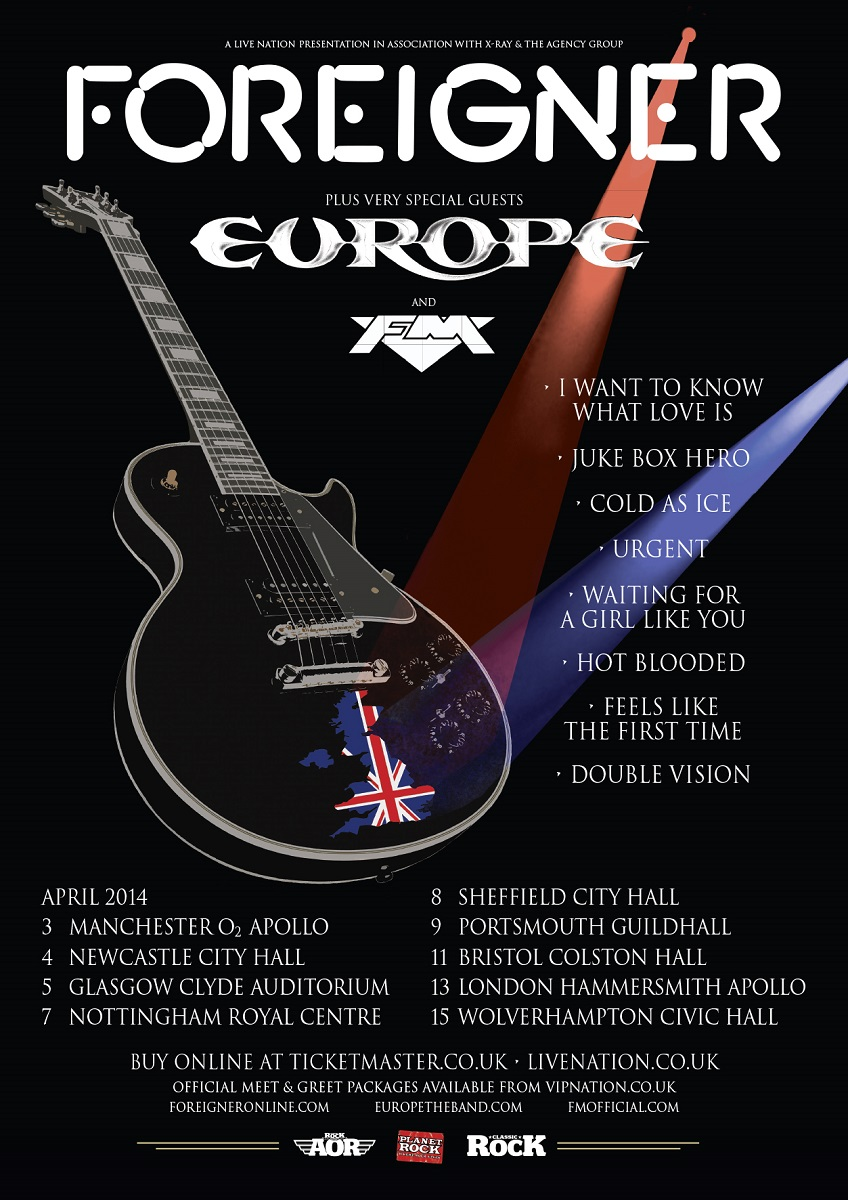 Foreigner + Europe +FM tour
