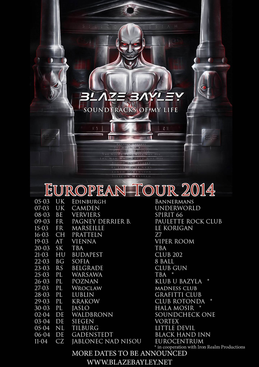 Blaze Bayley Tour 2014