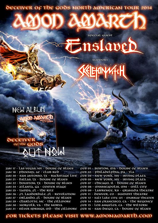 Amon Amarth NA Tour 2014