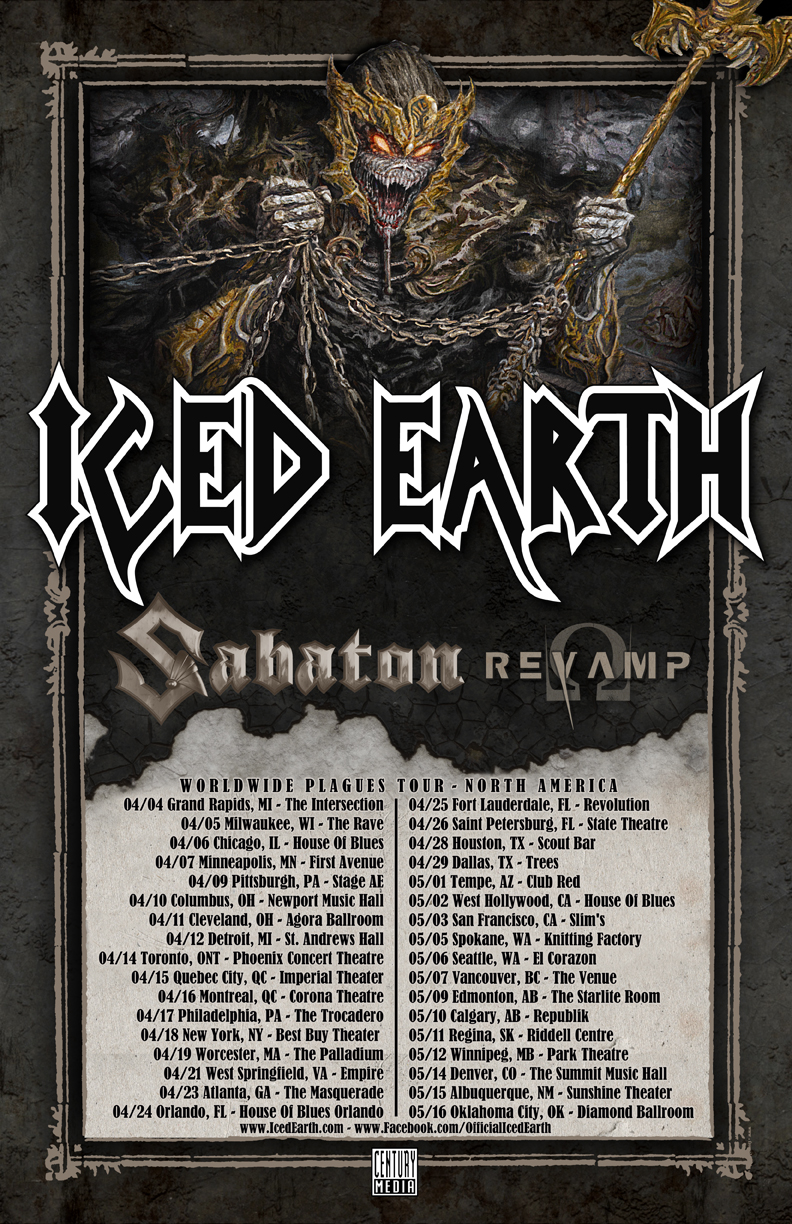 Iced Earth - NA Tour 2014