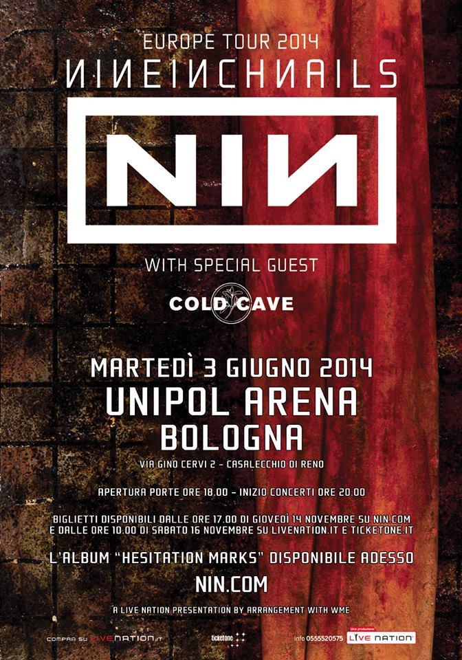 Concerts-Metal Calendar | Nine Inch Nails Europe 2014 - 03/06/2014 ...