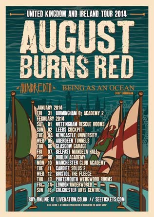 August Burns Red Tour 2014