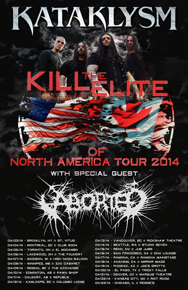 Kataklysm + Aborted NA tour
