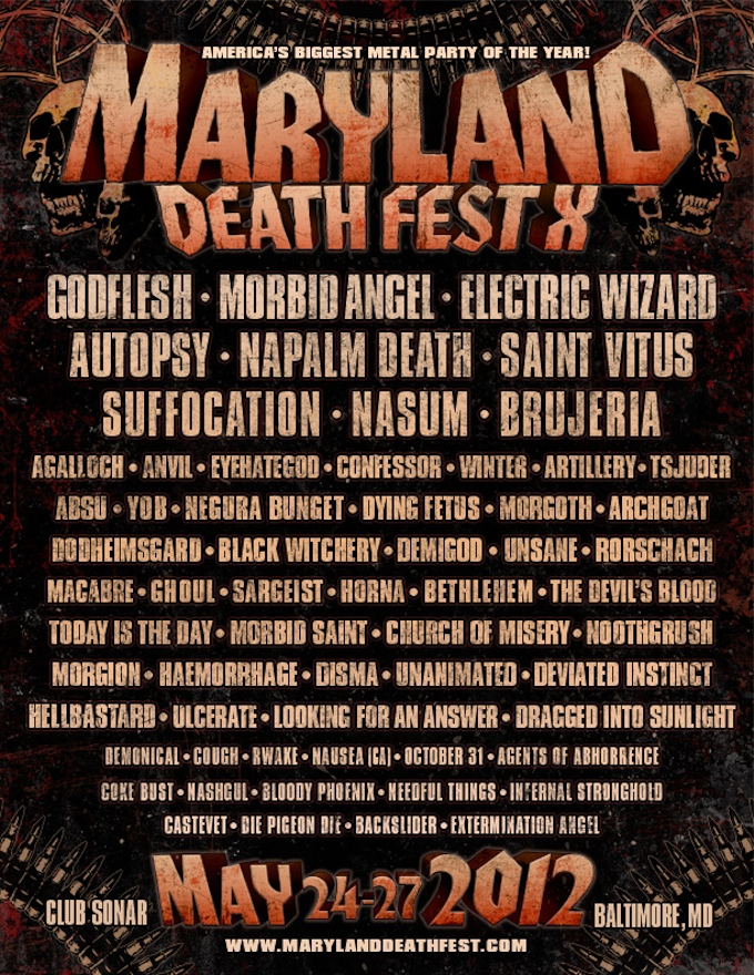 Maryland DeathFest 2012