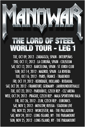 Manowar Tour 2012