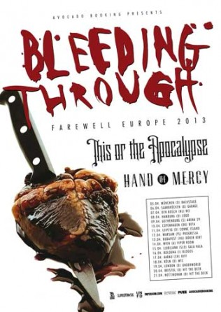 Bleeding Through Tour 2013