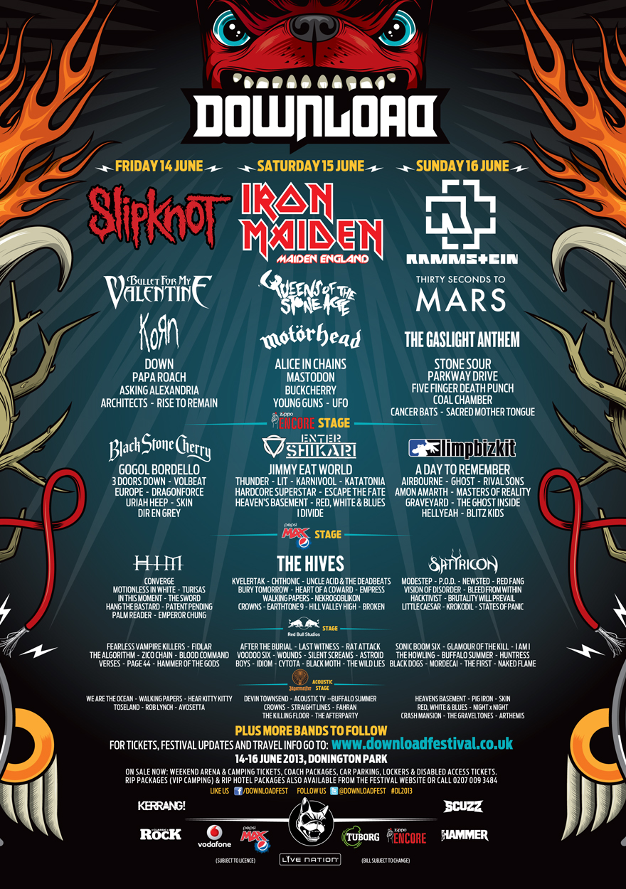 Hellyeah @ download festival 2013 #jagermusic youtube.