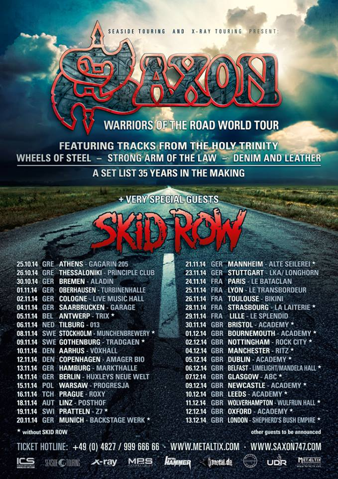 Saxon - European Tour 2014