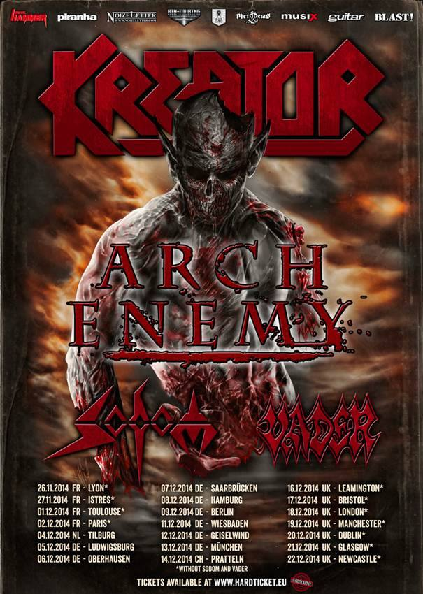 Kreator + Arch Enemy Tour
