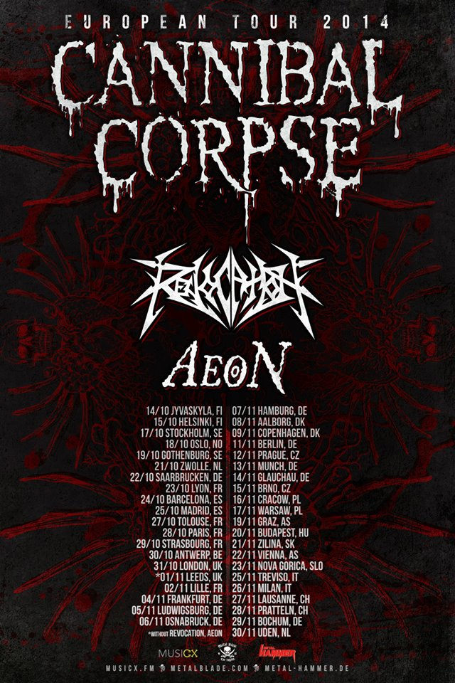 Cannibal Corpse Tour 2014