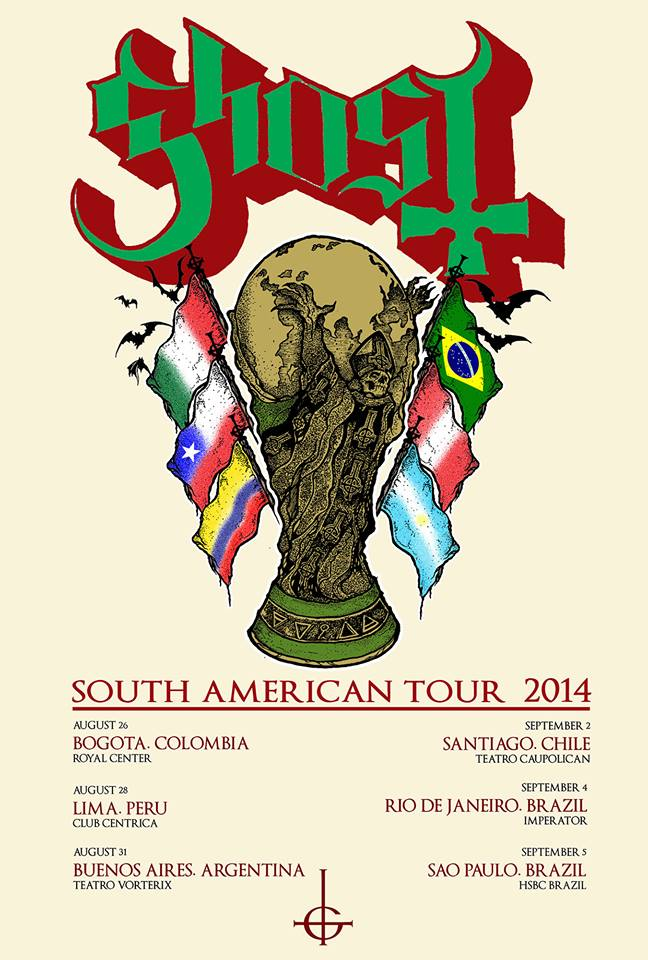 Ghost - South America 2014