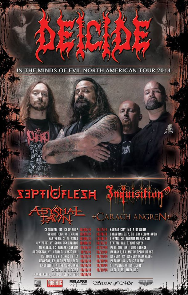 Deicide North American Tour
