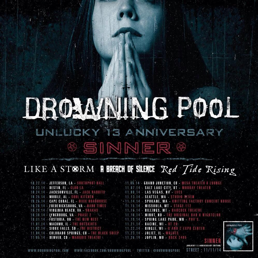 Drowning Pool Tour 2014