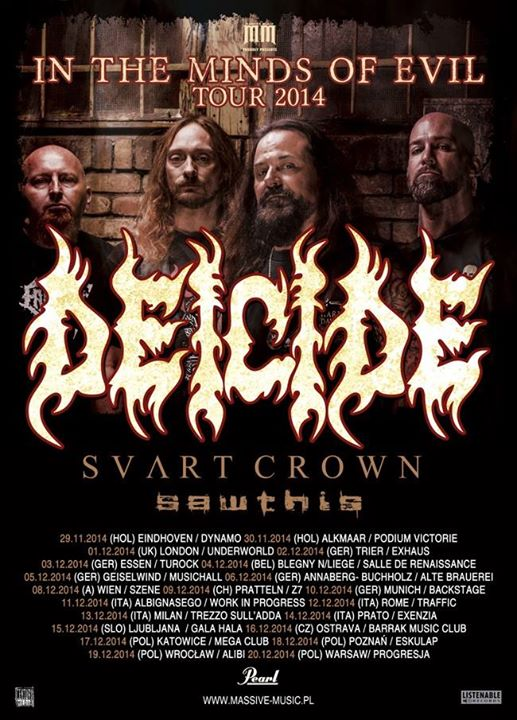 Deicide European Tour 2014