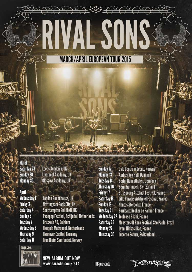 Rival Sons Tour 2015