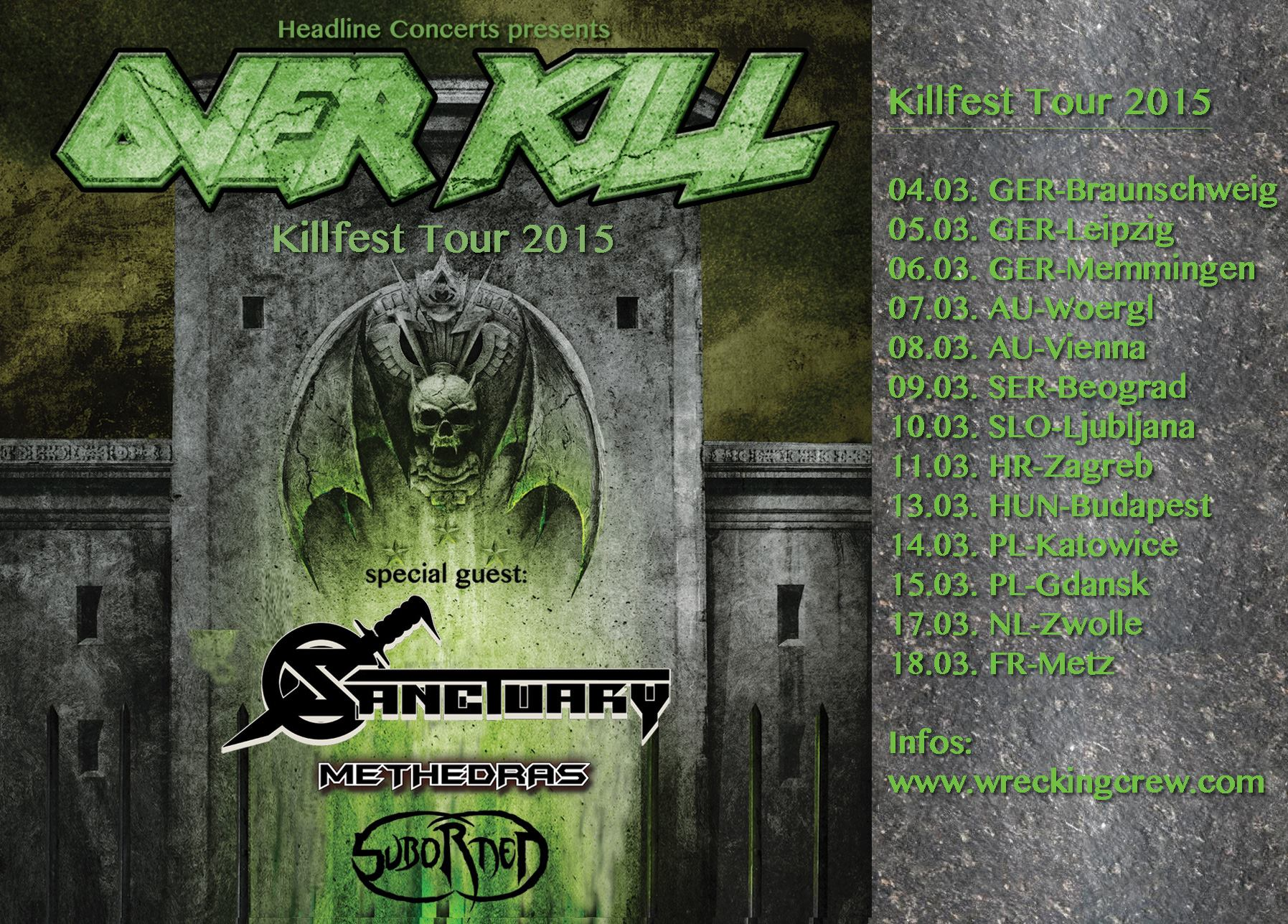 Overkill Killfest Tour 2015