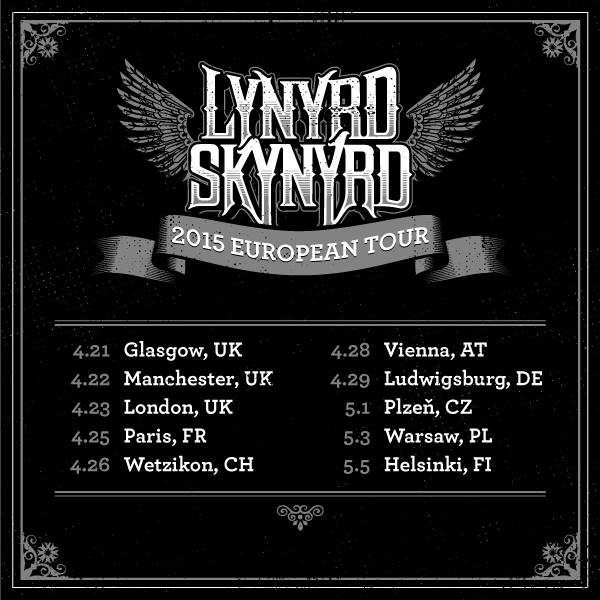 lynyrd skynyrd tour 2015 29 04 2015 ludwigsburg baden wurttemberg germany concerts. Black Bedroom Furniture Sets. Home Design Ideas
