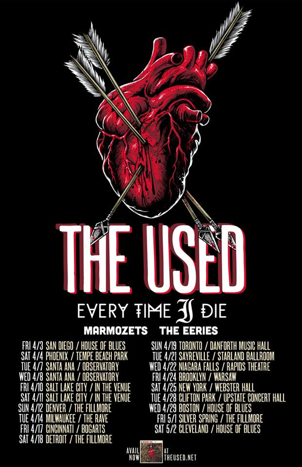 The Used - Tour 2015