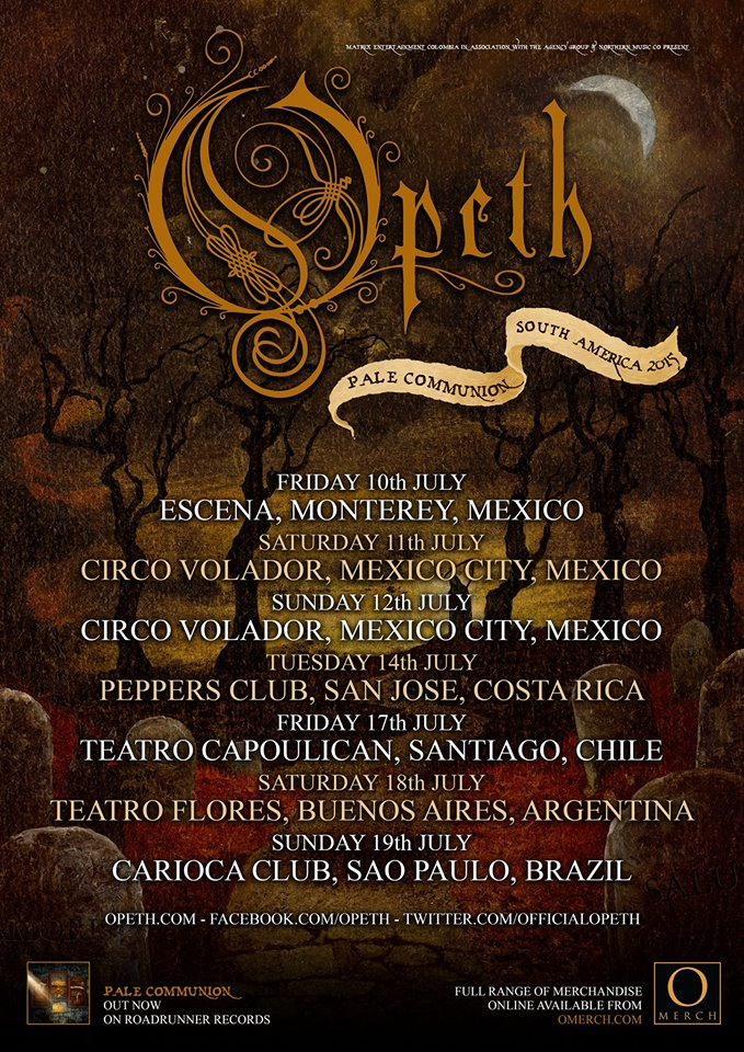 Opeth - South American Tour