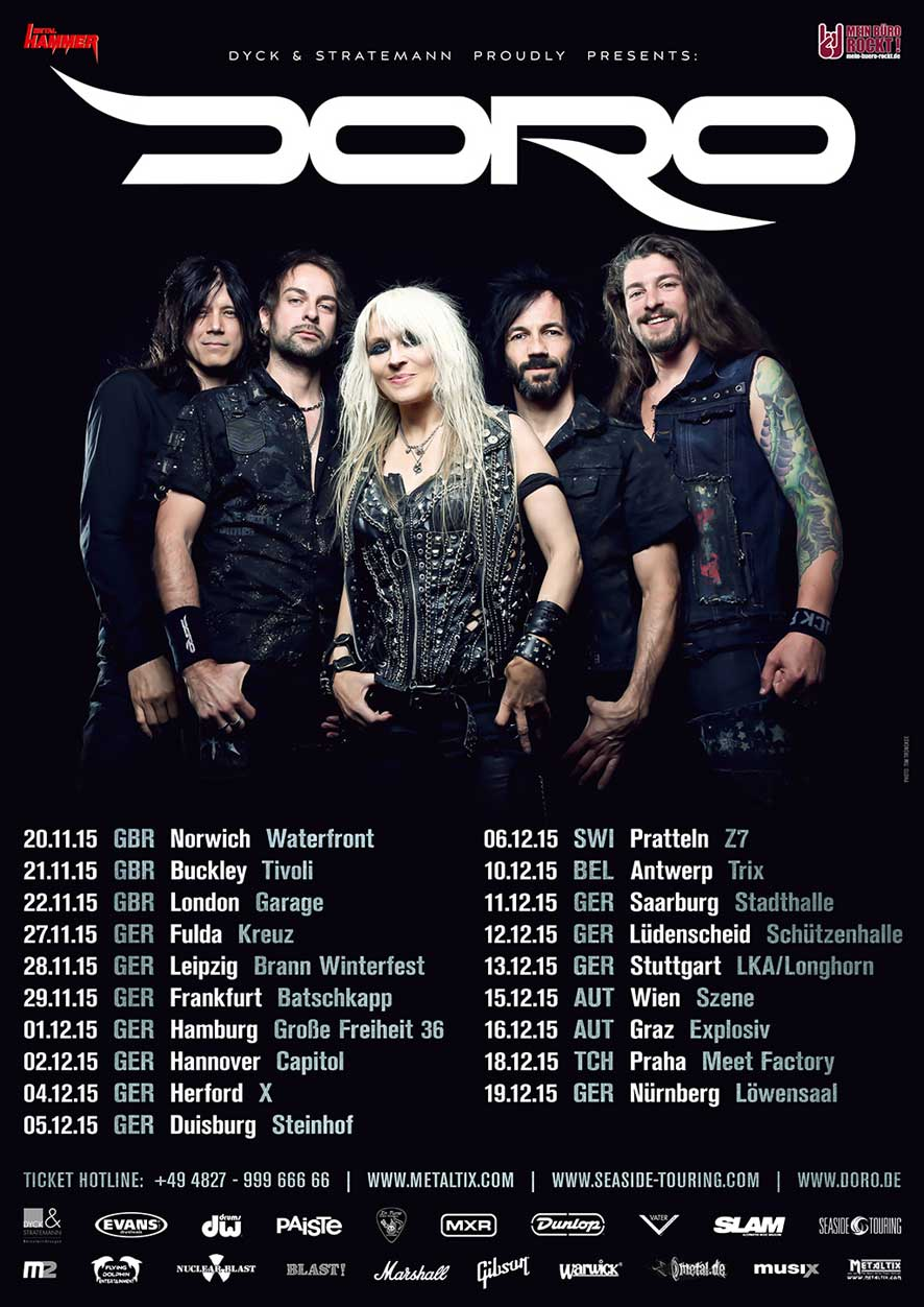Doro - European Tour 2015