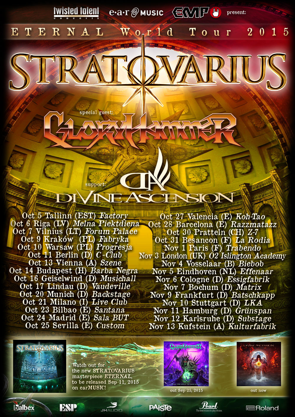 Stratovarius - Tour 2015