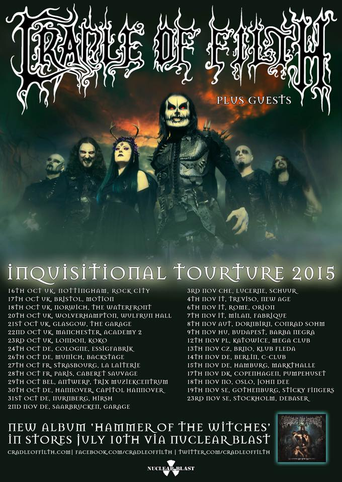 Cradle of Filth - Tour 2015