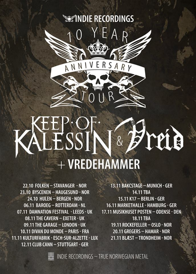 Keep Of Kalessin + Vreid +