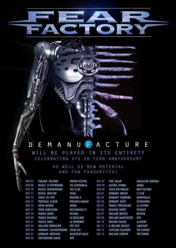 Fear Factory - Tour 2015
