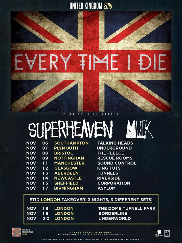 Every Time I Die - UK Tour
