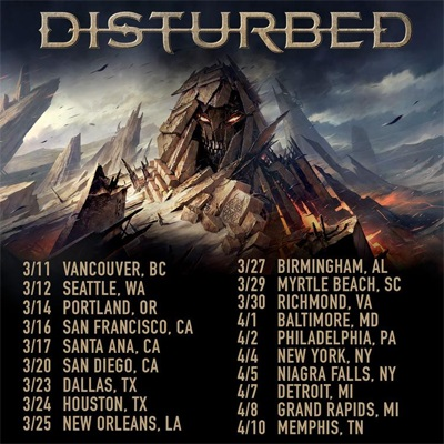 Disturbed - NA Tour 2016