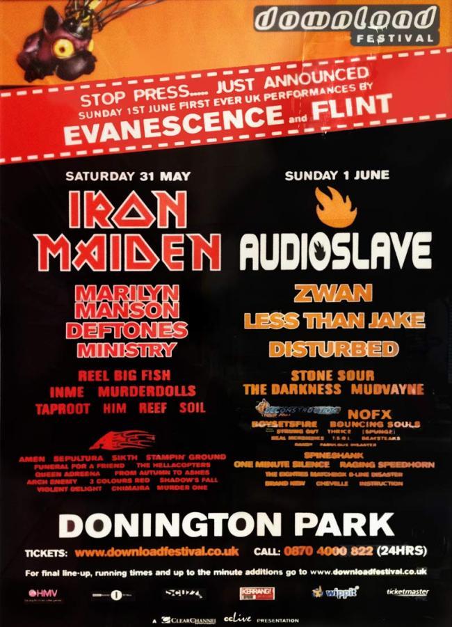 Fabuleux Concerts-Metal Calendar | Download Festival 2003 - 31/05/2003 (2  GQ56