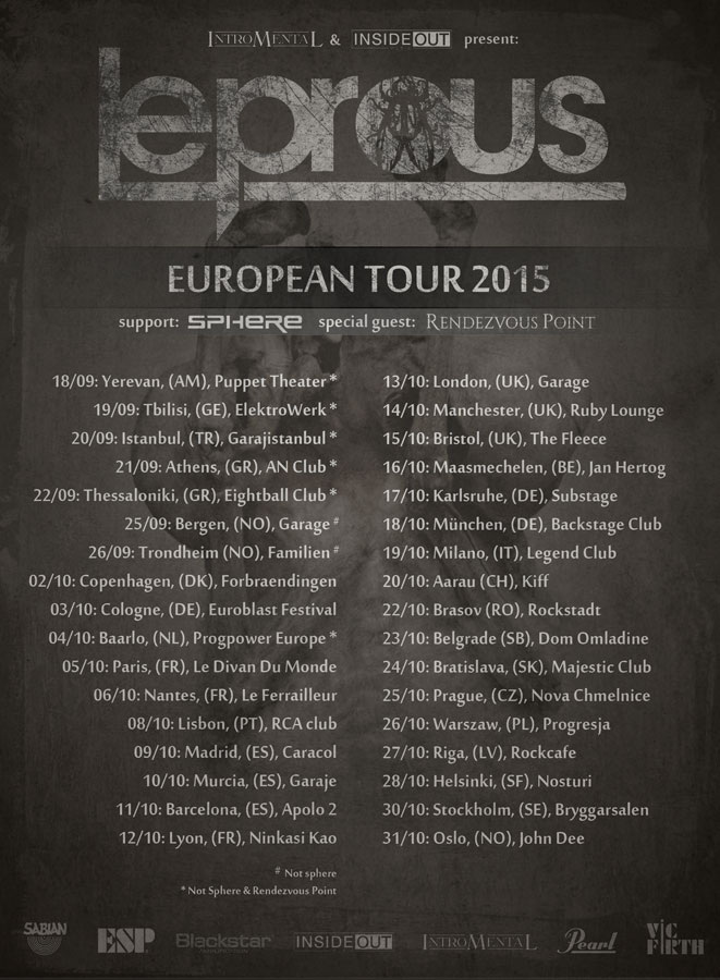 Leprous European Tour 2015