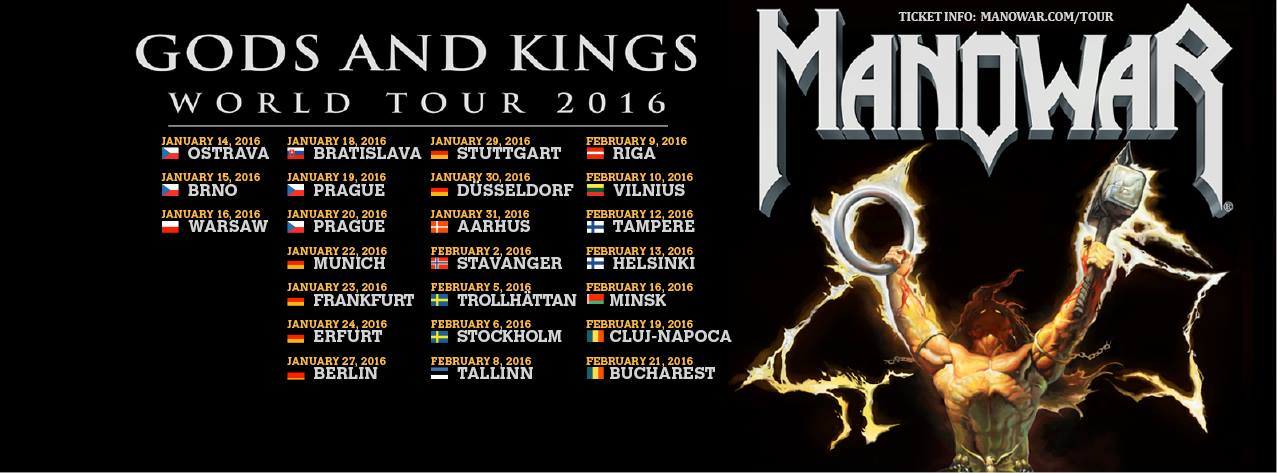 Manowar World Tour 2016