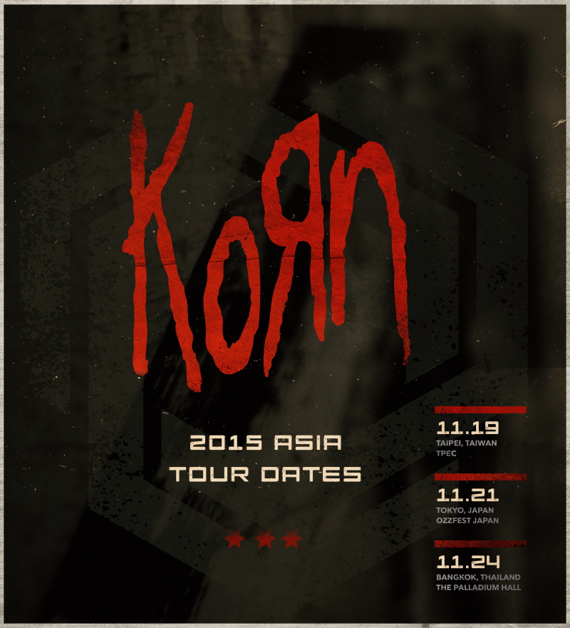 Korn - Asian Tour 2015