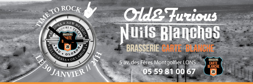 OLD&FURIOUS + NUITS BLANCHE