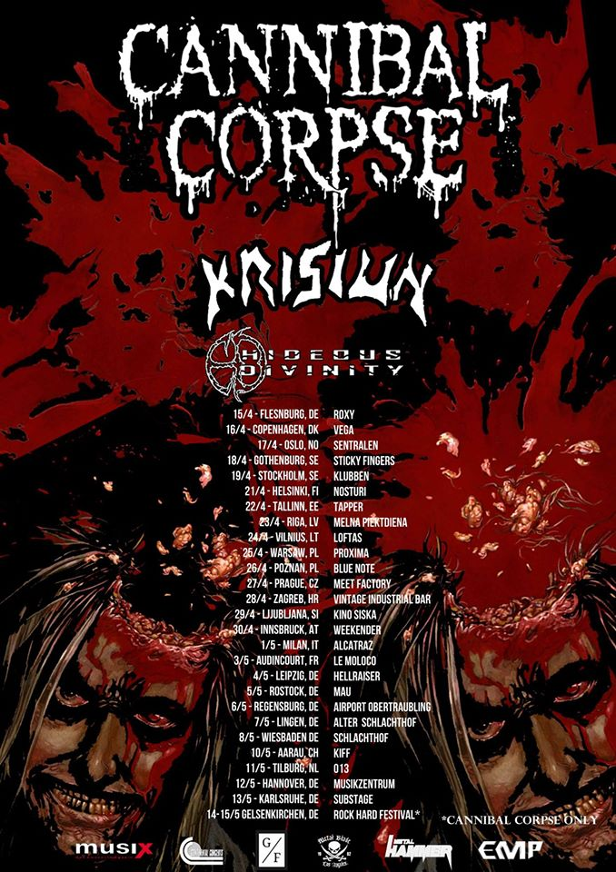 Cannibal Corpse Tour 2016
