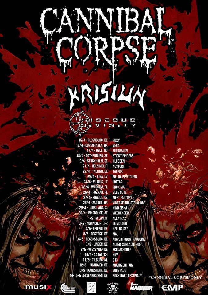 Cannibal Corpse Tour 2020 Cannibal Corpse Tour 2016   08/05/2016   Wiesbaden   Hessen