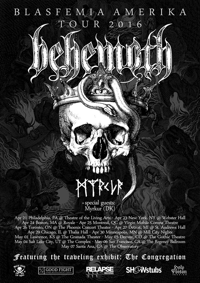 Behemoth - NA Tour 2016