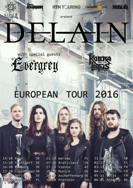 Delain - European Tour 2016