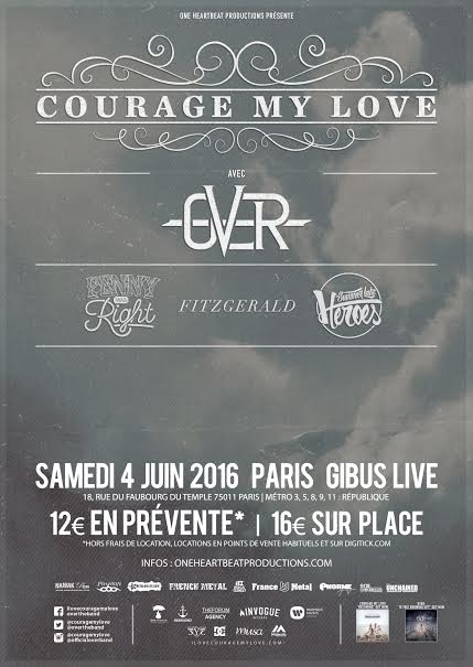 COURAGE MY LOVE + OVER
