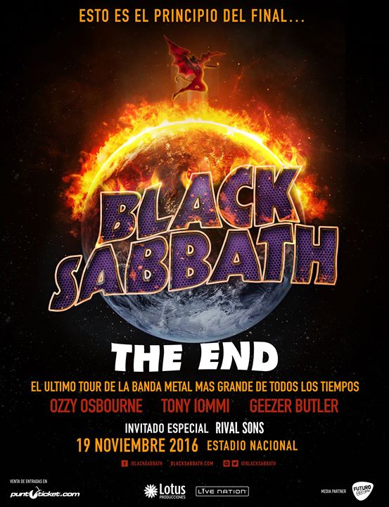 black sabbath tour 2016 19 11 2016 santiago chile concerts metal calendar. Black Bedroom Furniture Sets. Home Design Ideas
