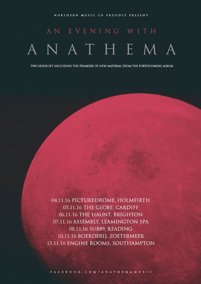 Anathema European Tour 2016