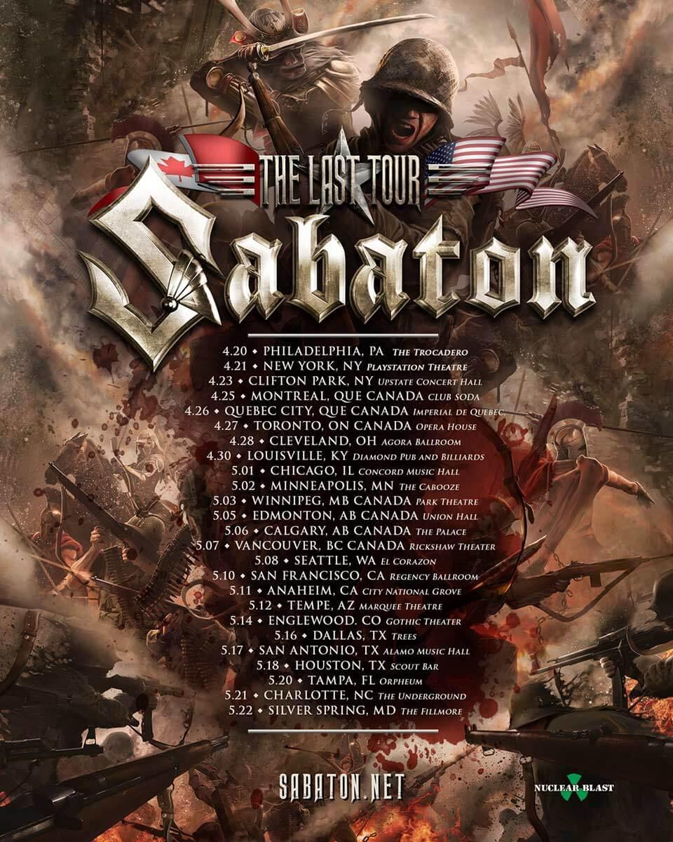Sabaton Tour 2020 Usa Sabaton The Last Tour 2017   05/05/2017   Edmonton   Alberta