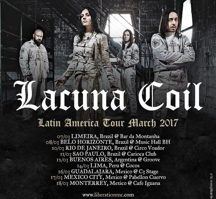 Lacuna Coil Tour 2020 Lacuna Coil   Tour 2017   10/03/2017   Rio de Janeiro   Brazil