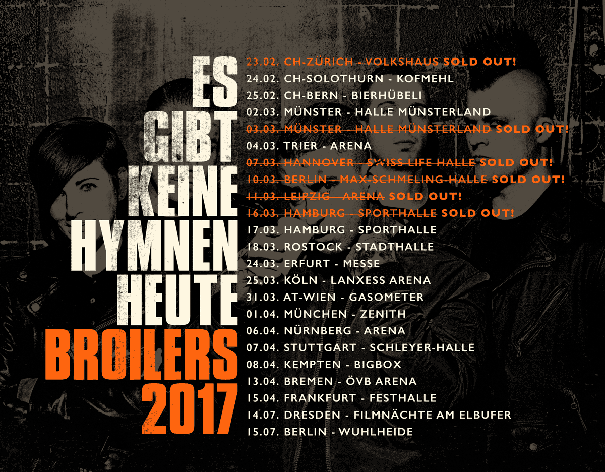 Broilers - Tour 2017
