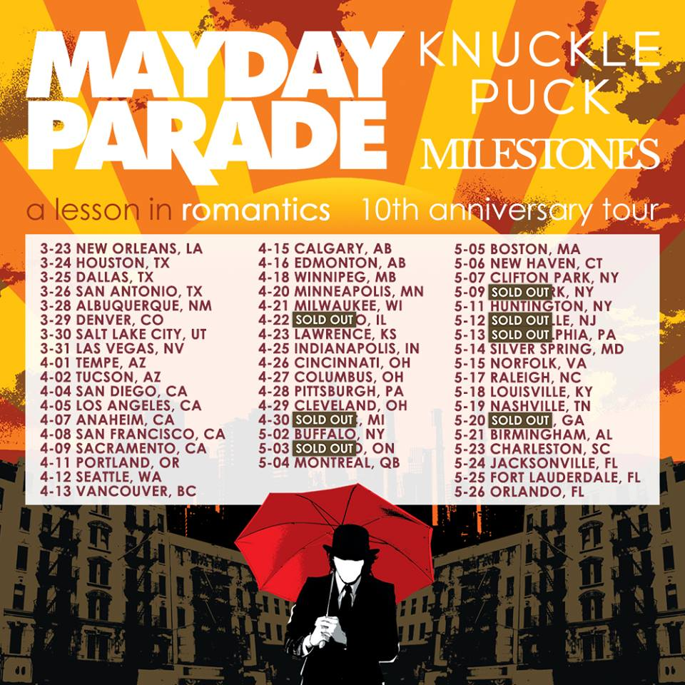 Mayday Parade - Tour 2017