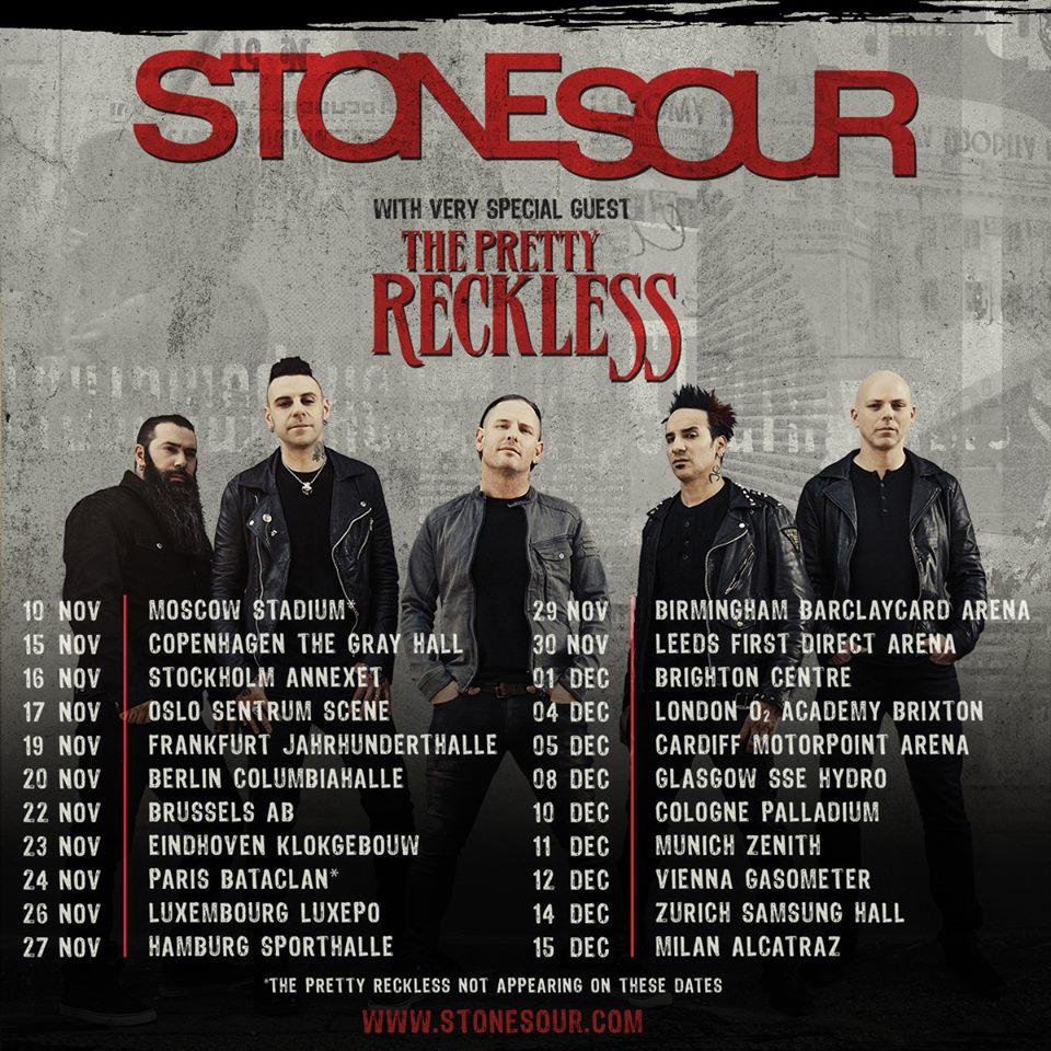 concerts metal calendar stone sour tour 2017 14 12 2017